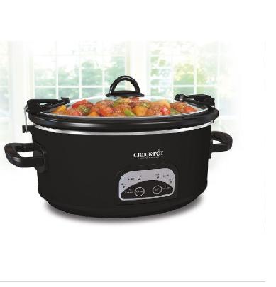 Crock Pot 174 Programmable 6 Qt Slow Cooker Black