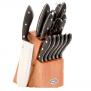 Kitchen – Oster Huxford 22-Piece Cutlery Set with Dark Wood Cutlery Block